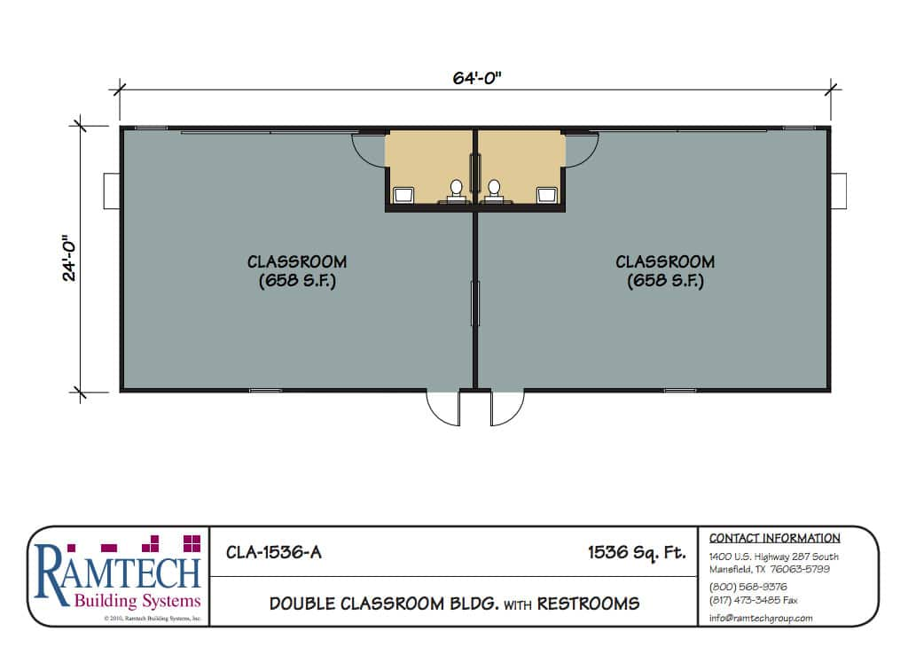 Modular Classroom Floor Plans ~ Ramtech relocatable and permanent modular building floor plans