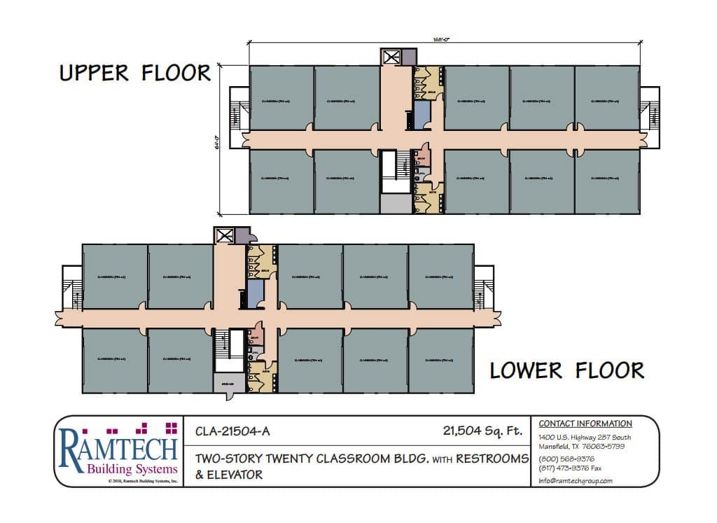 Modular Classroom Floor Plans ~ Ramtech relocatable and permanent modular building floor plans