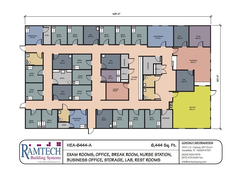 Ramtech relocatable and permanent modular building floor plans for Modular building design